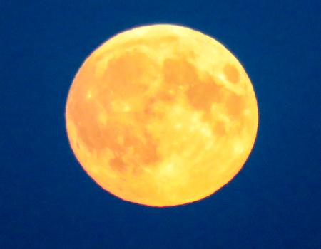 waning moon: Perigee Moon
