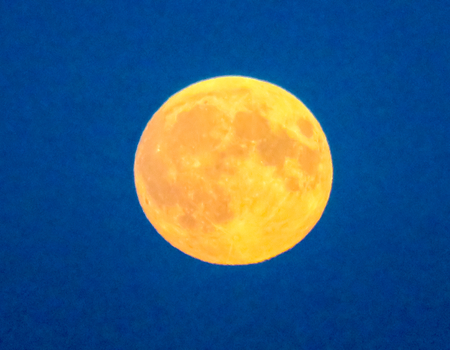 waning moon: Perigee Moon Blue Sky