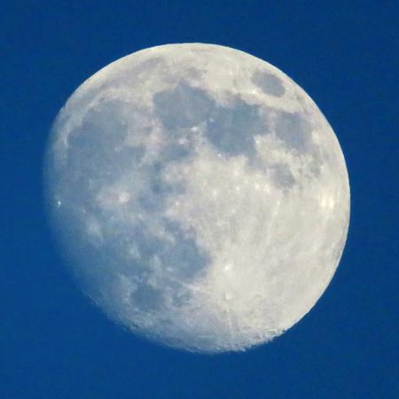 waning moon: Moon At Dusk