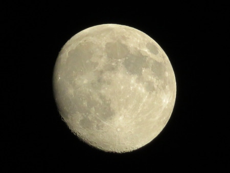 waning moon: Moon at Night Stock Photo