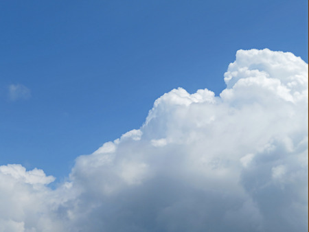 weather front: Blue Sky And Cloud Boundary