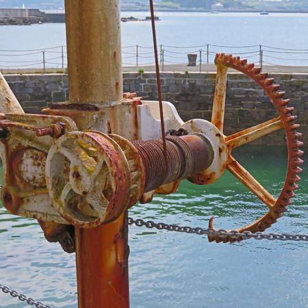 winch: Harbour Winch Mechanism Stock Photo