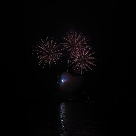 triple: Triple Firework Burst Stock Photo