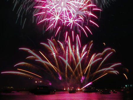Fireworks Magenta Stock Photo