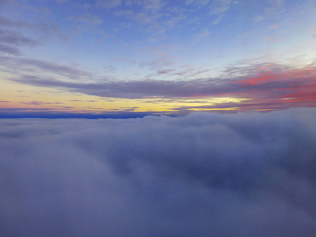Dawn Horizon Above Clouds