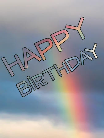 Rainbow Happy Birthday