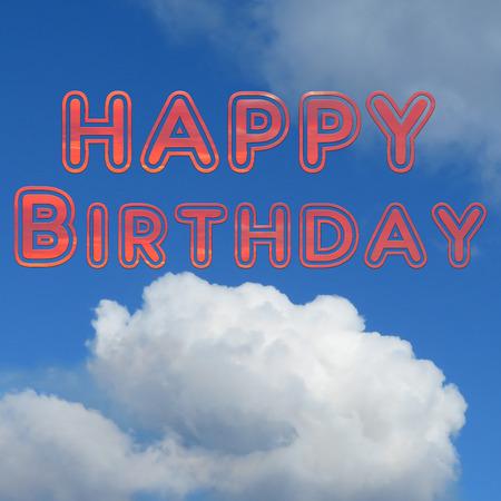 Blue Sky Happy Birthday