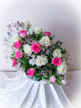 White And Pink Flower Design