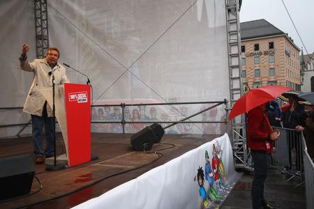 2013-09-12、クラウス ・ エルンスト、ミュンヘンの選挙イベントで ' 左 '、党の連邦議会副