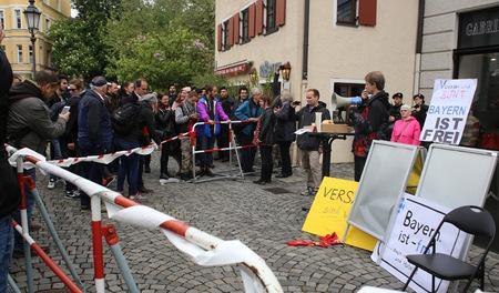 2016/05/13, deutscher Pegida zum Protest in München Standard-Bild - 85961979