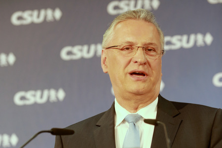 2017-04-24, Joachim Herrmann, Bavarian Interior Minister during a press conference CSU