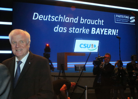 2015-11-20, Horst Seehofer (CSU Chief) at the CSU party convention in Munich Editorial