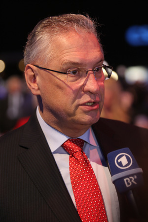 2015-11-21, Joachim Herrmann (CSU) at Day 2 of the CSU party convention in Munich Editorial