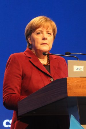 2015-11-20, Angela Merkel, Federal Chancellor of Germany at the CSU party convention in Munich, Germany Editorial