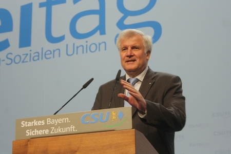 2012-10-19, Horst Seehofer, CSU party leader and Prime Minister of Bavaria on a CSU party convention in Munich Editorial