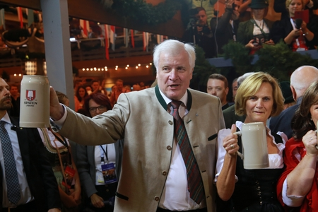 2017-09-16 - Munich, Germany - Ocotoberfest to the people: Bavarias premier Horst Seehofer and his wife Karin Seehofer