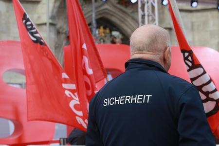 2017-09-14 Marienplatz München - Sicherheitspersonal Standard-Bild - 86019193