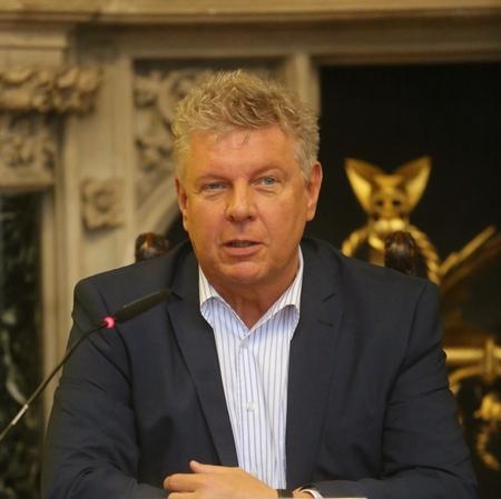 München, Deutschland - 21. Juni 2017 - Dieter Reiter, 1. Bürgermeister von München (Bayern), Pressekonferenz in Rathaus Boardroom Standard-Bild - 86020542