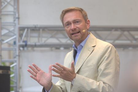 September 19, 2017 - Munich, Germany - Christian Lindner, top candidate FDP party to the 2017 Marienplatz in Munich