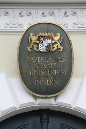 July 2011, 18 - Munich (Germany) - the Bavarian Interior of the Bavarian Interior Ministry in Munich, Odeonsplatz