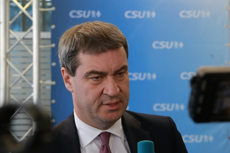 November 4, 2016 - Munich, Germany - CSU party convention: Markus Soeder, Minister of Finance and Home of Bavaria