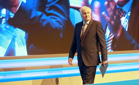 November 4, 2016 - Munich, Germany - Horst Seehofer, Minister President of Bavaria and chairman of the CSU on his way from the lectern to his seat (on a CSU party convention) Editorial