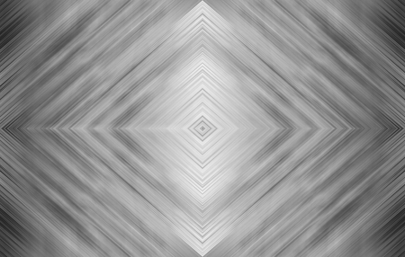Rhombus black and white. Monochrome abstract technology background for templates, layouts, web pages. Kaleidoscope symmetric effect with strips and geometric shapes Stock Photo