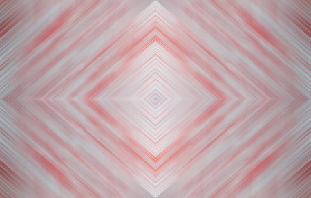 Rhombus soft pale blue and red. Abstract technology background for templates, layouts, web pages. Kaleidoscope symmetric effect with strips and geometric shapes