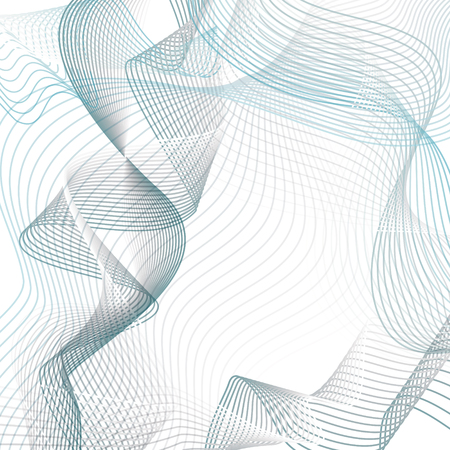 Abstract wave background. Technology modern template in blue and gray tones. Vector EPS10 illustration