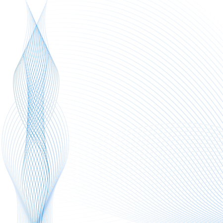 Abstract wave background with transparent blue and gray lines. Technology modern template with place for text for web sights, presentations, brochures. Vector illustration.