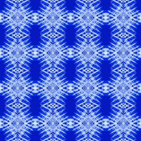 Seamless pattern in winter, Christmas style, snowflakes imitation. Abstract kaleidoscope blue background. Symmetric ornament. Square template for fashion design, wallpapers, wrapping paper, scrapbooking, greeting cards, web pages