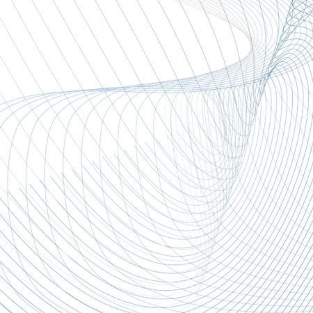 Streszczenie wektor wiggly przebiegi. Tło technika, zakrzywione przecinające się niebieskie, szare linie na białym tle. Futurystyczny design linii sztuki. Energia, koncepcja mocy, wzór falujący. Nowoczesna tapeta siatkowa