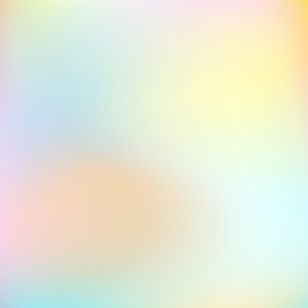 Light blurred background of pastel colors. Diffused stains yellow, blue, aquamarine, orange. Soft gradient. Abstract vector template for modern creative design. Dreamy, airy, mysterious concept illustration