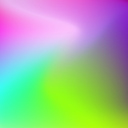 Abstract large multicolored stains. Blurred background green-yellow, blue, pink, magenta. Bright smooth gradient. Vector template with text place for modern design Ilustração