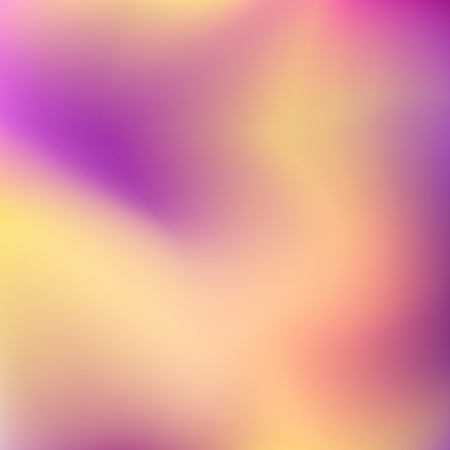 Blurred multicolored vector background. Smooth orange, purple gradient. Abstract stains. Art template for modern creative design. EPS10 illustration Ilustração