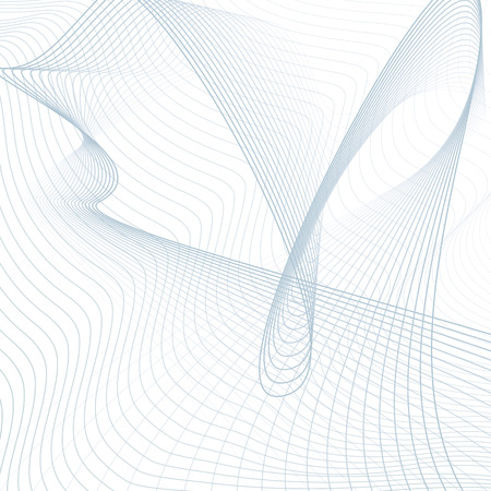 Scientific background. Abstract futuristic line art pattern. Wavy technology design. Media concept. Modern waving lines template in blue, gray, white hues. Vector EPS10 illustration