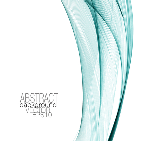 Art template with bright green flowing veil imitation. Abstract design element. Vector modern shiny lines background. Elegant waving curved lines. Layout for brochure, book, cover, poster, leaflet, flyer. EPS10 illustration Vecteurs