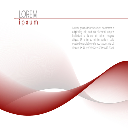 Template, minimalistic layout. Abstract wave pattern in dark red and gray. Modern vector background. For books, brochures, magazines, posters, leaflets, flyers, presentations, web pages
