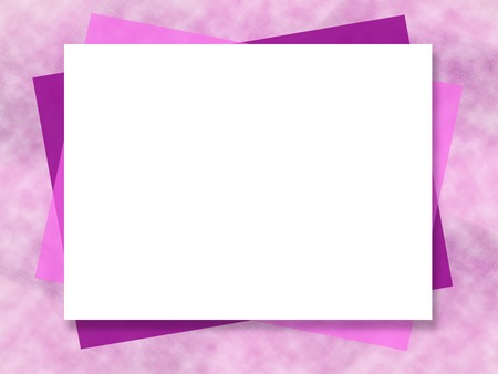 Mock up template. Vibrant purple, pink, magenta abstract background. White big text box. Picture frame, border design. Art composition for greeting card, postcard, leaflet, poster, flyer, website, presentation Фото со стока