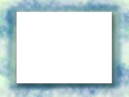 Soft Blue, Yellow Picture Frame. White Paper On Blurred Background ...
