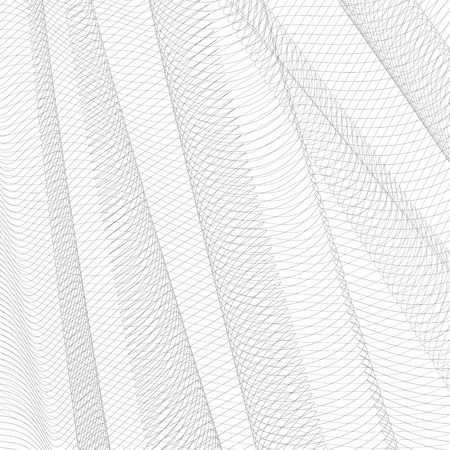 Abstract gray net. Monochrome squiggle thin lines, curves. Vector striped background. Line art pattern, textile, network, mesh textured effect. EPS10 illustration Stock Vector - 111491870