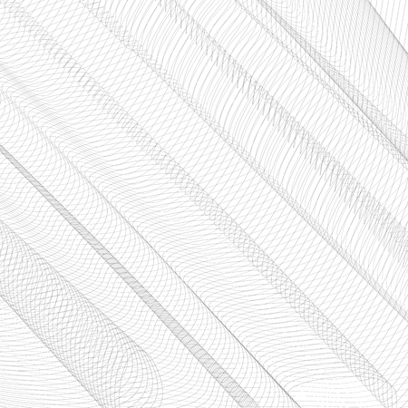 Abstract network with diagonal drapery. Gray squiggle thin lines, curves. Vector monochrome striped background. Line art pattern, textile, net, mesh textured effect. EPS10 illustration
