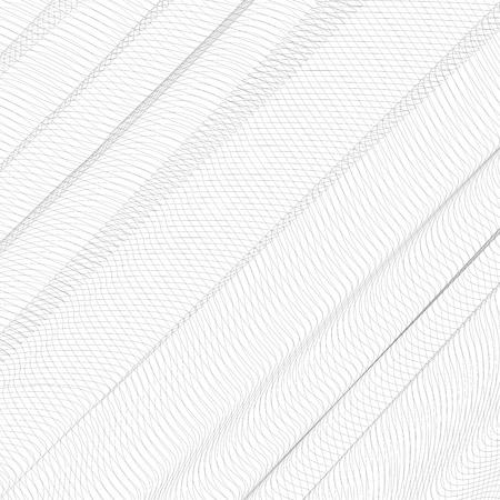 Abstract folded net. Gray ripple thin lines, curves. Vector monochrome striped background. Line art pattern, creased textile, net, mesh textured effect. EPS10 illustration