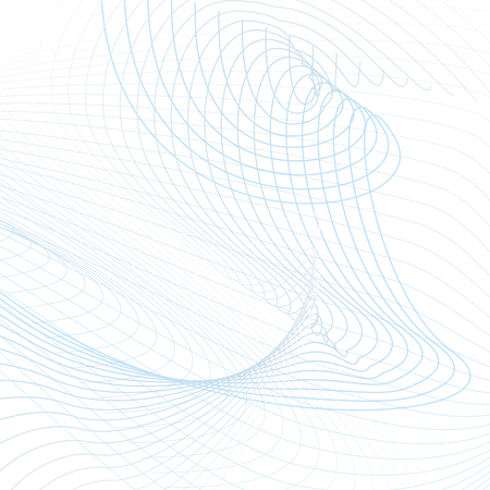 Abstract background with squiggle twisted lines. Technology modern template in light blue and gray tones. Vector waving line art concept for sci-tech design. Futuristic wave pattern. EPS10 illustration Illustration