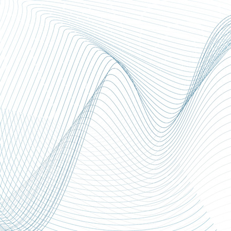 Blue zigzag lines. Abstract wavy pattern. Geometric futuristic concept. Technology colored net on white background. Line art design. Vector modern scientific template. EPS10 illustration