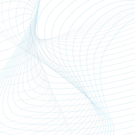 Futuristic wave pattern. Abstract background with subtle tangled lines. Technology modern template in light blue and gray tones. Vector waving line art concept for sci-tech design. EPS10 illustration