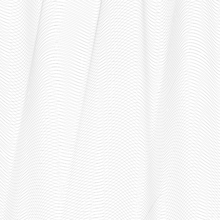 Abstract gray mesh. Vector monochrome tangled pattern. Line art design, textile, network, net texture. Undulating subtle lines, squiggle thin curves. White background. Diagonal composition. EPS10 illustration Illustration