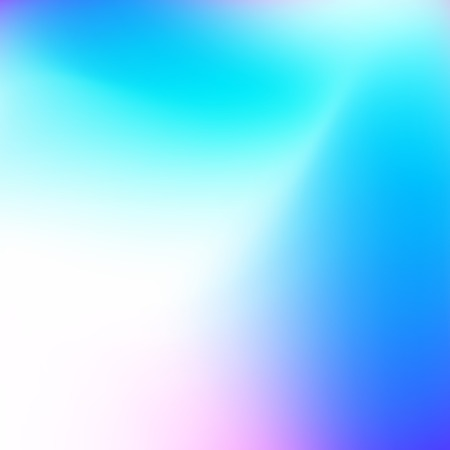 Blurred vector background. Smooth hues of white, turquoise, blue gradient. Neon tones. Abstract multicolored pattern. Art bright template for modern creative design. EPS10 illustration