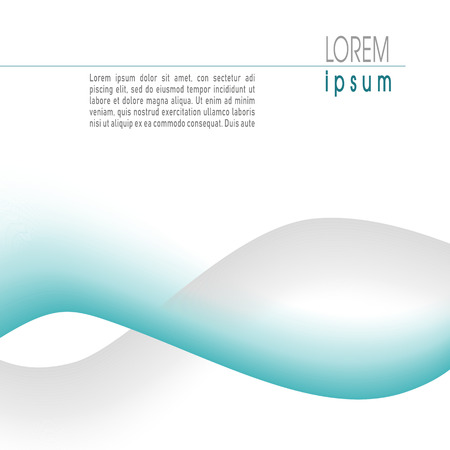 Business template with turquoise, gray waves. Abstract layout for cover, book, brochure, magazine, catalog, poster, leaflet, flyer, presentation. Creative vector background