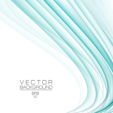 Turquoise green vector background. Smooth gradient colors, abstract waveforms. Conceptual template. Modern layout for cover, book, magazine, poster, leaflet, flyer, website. EPS10 illustration